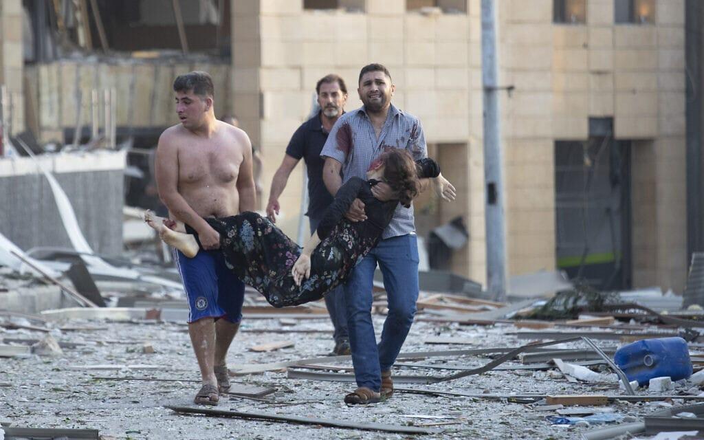 פיצוץ בנמל ביירות (צילום: AP)