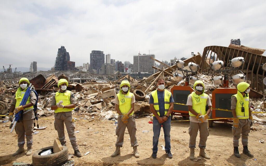 ההרס בעקבות הפיצוץ בנמל ביירות בלבנון, אוגוסט 2020 (צילום: AP Photo/Thibault Camus, Pool)