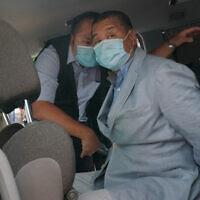 מעצר ג׳ימי ליי בהונג קונג (צילום: AP)