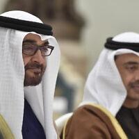 שייח' מוחמד בן זאיד אאל נהיאן, נסיך הכתר של אמירות אבו דאבי וסגן המפקד העליון של הכוחות המזוינים של איחוד האמירויות הערביות, בקרמלין, מרץ 2016 (צילום: Alexander Nemenov/Pool photo via AP)