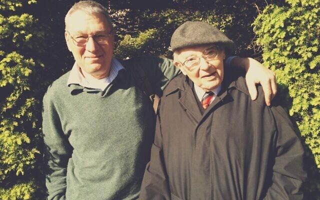 דיוויד פריזר עם אביו ריינהרט ב-2011 (צילום: Courtesy)