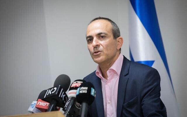 רוני גמזו במשרד הבריאות בירושלים, 3 בינואר 2019 (צילום: נעם ריבקין פנטון, פלאש 90)