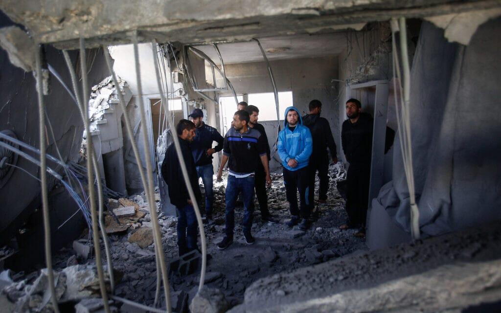 """ביתה של משפחת המחבל עומר אבו ליילה שנהרס על ידי צה""""ל בסלפית, 24 באפריל 2019 (צילום: Nasser Ishtayeh/FLASH90)"""