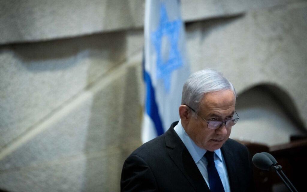 ראש הממשלה בנימין נתניהו במליאת הכנסת, 10 בנובמבר 2019 (צילום: יונתן זינדל, פלאש 90)