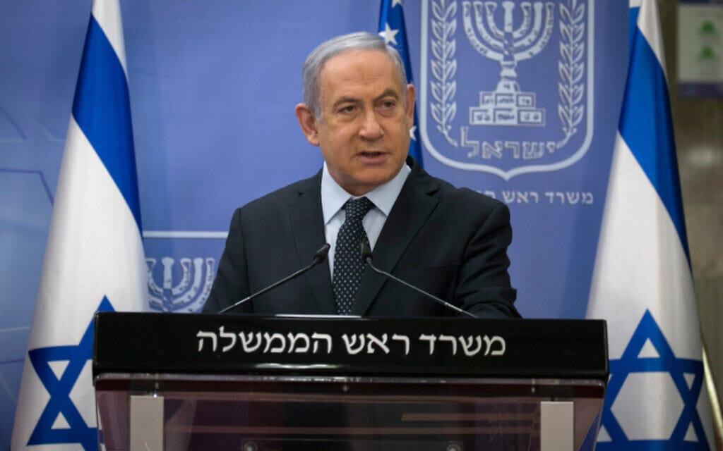 ראש הממשלה בנימין נתניהו במשרד ראש הממשלה בירושלים, 30 ביוני 2020 (צילום: אוליבייה פיטוסי, פלאש 90)