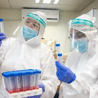 בדיקות קורונה במודיעין, יולי 2020 (צילום: Yossi Aloni/FLASH90)