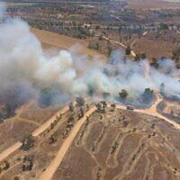 שריפה במועצה האזורית אשכול (צילום: מועצה אזורית אשכול)