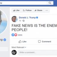 טראמפ טוען שהתקשורת היא אוייב העם (צילום: דן פרי)