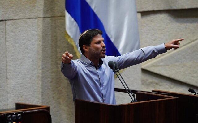 בצלאל סמוטריץ' בעת ההצבעה על פסקת ההתגברות ב-5 באוגוסט 2020 (צילום: עדינה ולמן, דוברות הכנסת)