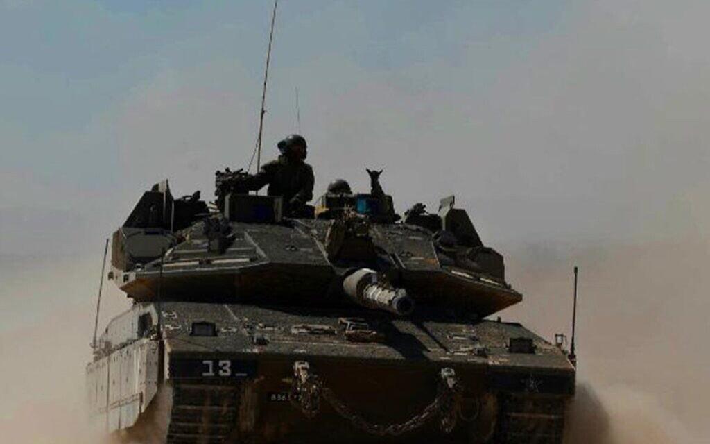 """כוח מחטיבת השריון 188 באימון. (צילום: צילום: דובר צה""""ל.)"""