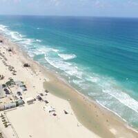 רצועת החוף של ראשון לציון (צילום: עיריית ראשון לציון)