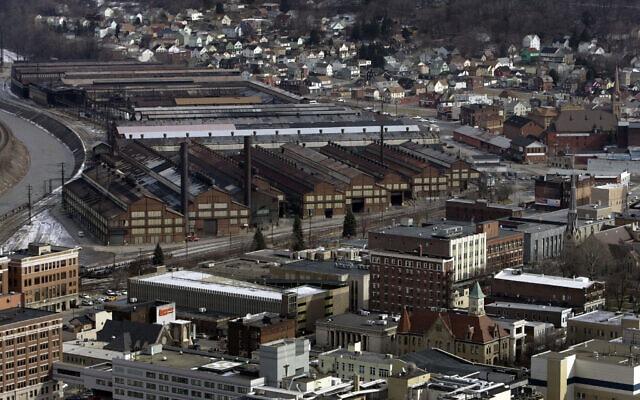 מבט-על על העיר ג'ונסטאון, פנסילבניה (צילום: AP Photo/Carolyn Kaster)