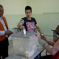 בחירות מקומיות בשכם, 13 במאי 2017 (צילום: Majdi Mohammed, AP)