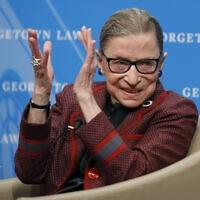 רות ביידר גינזבורג (צילום: AP Photo/Alex Brandon)