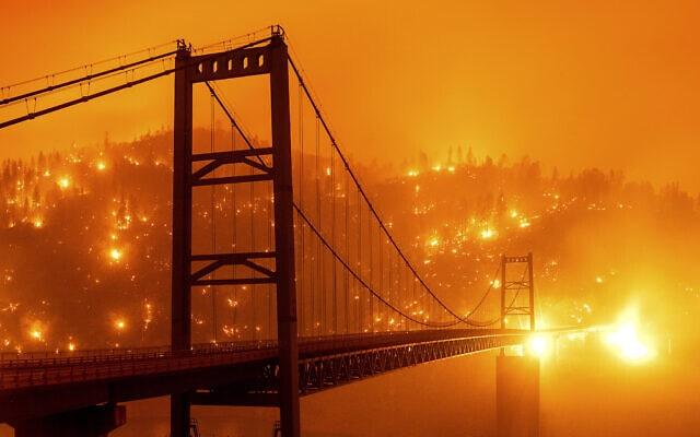 שריפות הענק בקליפורניה, ספטמבר 2020 (צילום: AP Photo/Noah Berger)