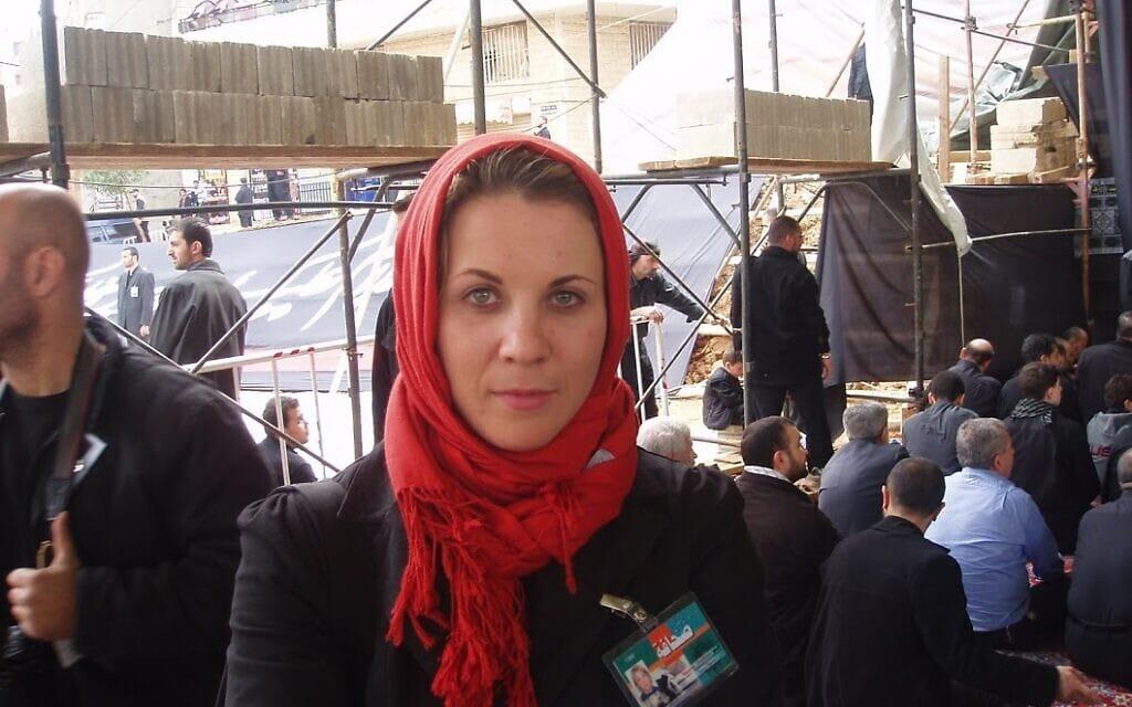 קסניה סבטלובה מסקרת את פעילות חזבאללה בלבנון, במסווה של כתבת זרה (צילום: באדיבות קסניה סבטלובה)