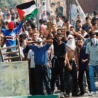 הפגנה באום אל-פחם ב-2 באוקטובר 2000 (צילום: Yossi Zamir/Flash 90)