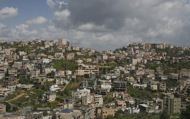 מבט על אום אל-פחם (צילום: Matanya Tausig/Flash90)