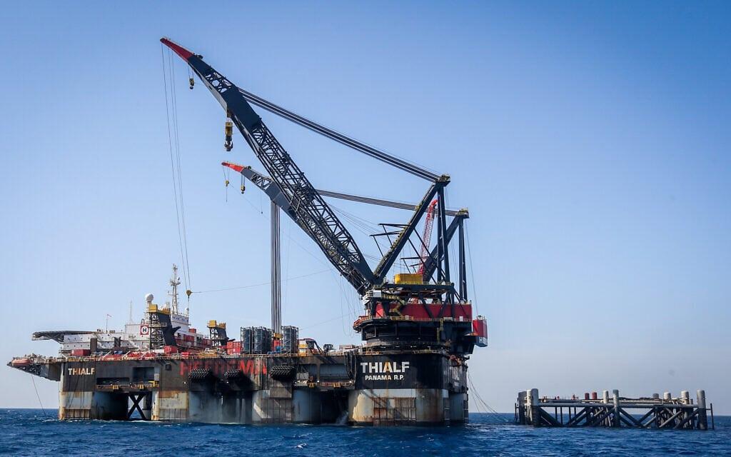 מאגר הגז לוויתן (צילום: Marc Israel Sellem/POOL)
