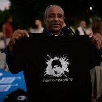 מחאה לשחרורו של אברה מנגיטסו (צילום: Tomer Neuberg/Flash90)