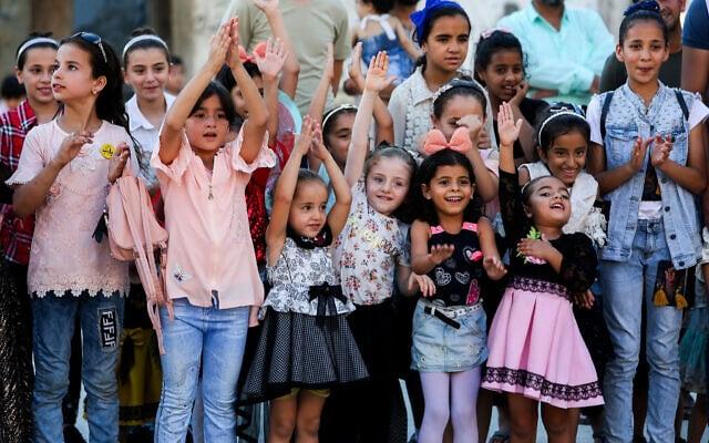 ילדים פלסטיניים ברצועת עזה, אוגוסט 2020 (צילום: Abed Rahim Khatib/Flash90)