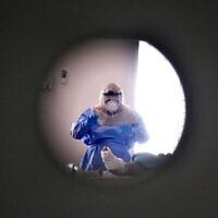 בית החולים סורוקה במהלך משבר הקורונה, ספטמבר 2020 (צילום: Yossi Zeliger/Flash90)