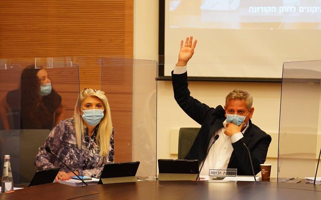 חברי הכנסת ניצן הורביץ ואוסנת מארק בוועדת חוקה, 29 בספטמבר 2020 (צילום: יהונתן סמייה/דוברות הכנסת)