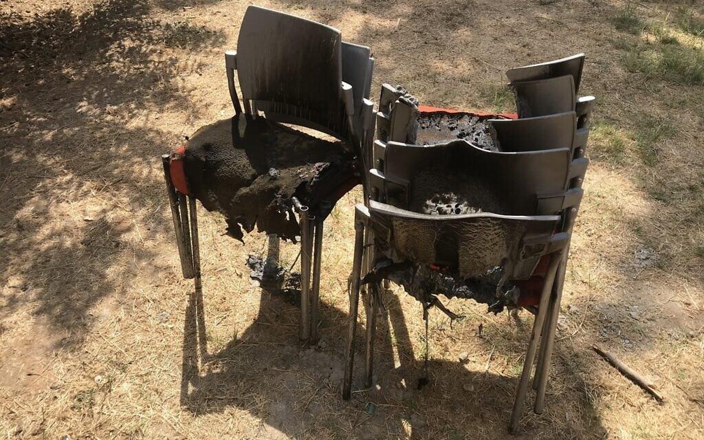 השריפה בנווה שלום (צילום: אמיר בן-דוד)