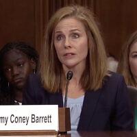 איימי קוני בארט, המועמדת של דונלד טראמפ לבית המשפט העליון (צילום: צילום מסך, C-Span)