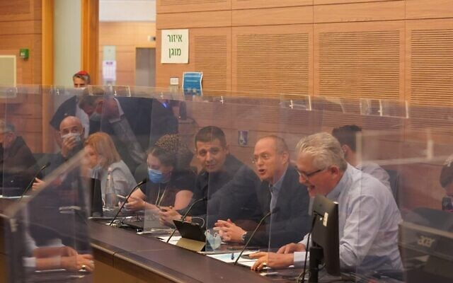 דיון בתיקון חוק הקורונה שאמור למנוע הפגנות (צילום: ועדת החוקה של הכנסת)