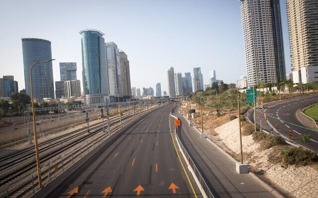 תל אביב בזמן הסגר, 20.9.2020 (צילום: מרים אלסטר, פלאש 90)