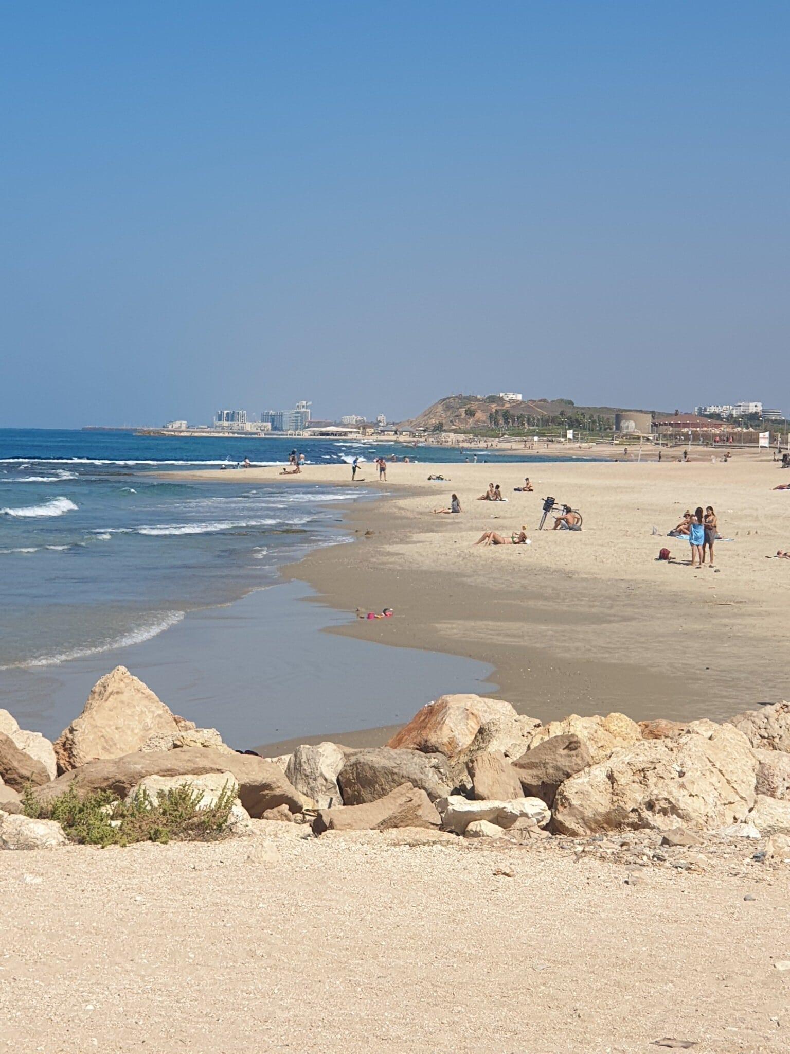 כאן עתידה לקום המרינה בתל אביב, אוקטובר 2020 (צילום: אביב לביא)