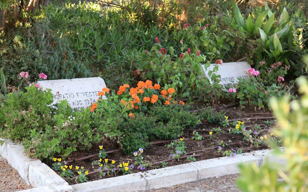 חלקת הקבורה של המושבה האמריקאית בהר הצופים. המושבה הוקמה בשנת 1881 (צילום: שמואל בר-עם)