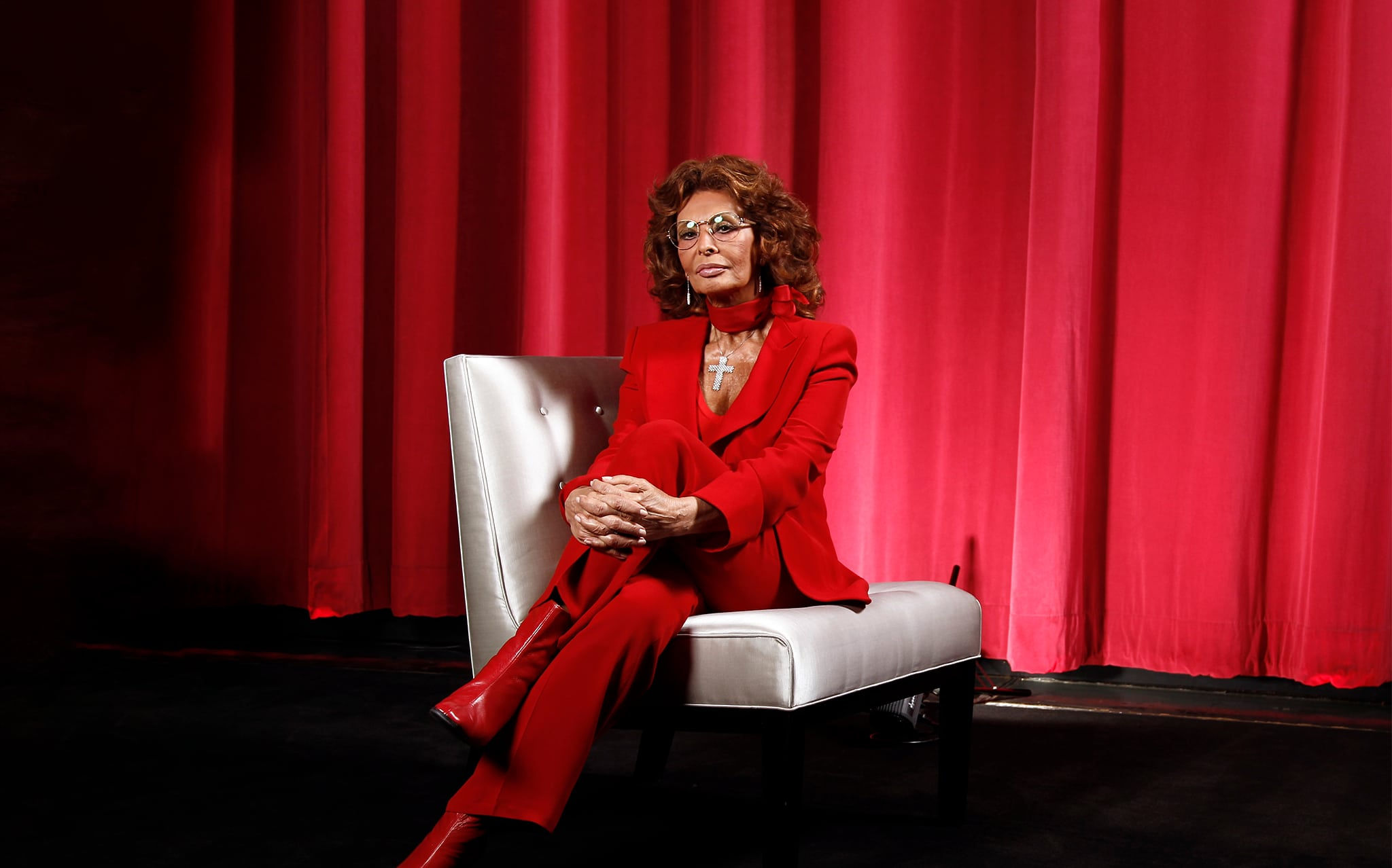 סופיה לורן (צילום: AP Photo/Matt Sayles)