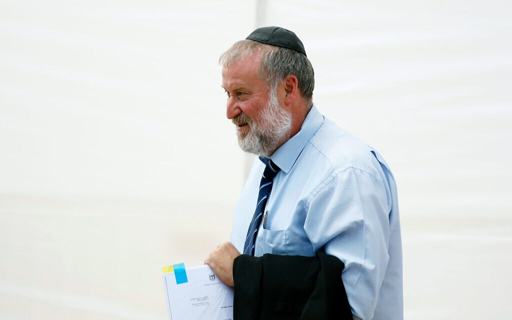 אביחי מנדלבליט (צילום: Amir Cohen/Pool via AP)
