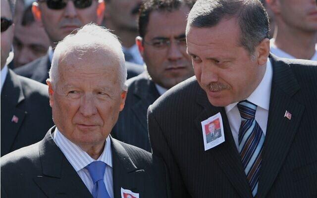 ארדואן וקנאן אברן (צילום: AP Photo/Burhan Ozbilici, File)