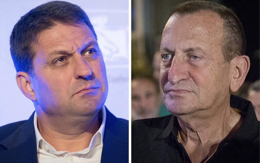 ראש עיריית מודיעין-מכבים-רעות חיים ביבס (משמאל) וראש עיריית תל אביב רון חולדאי (צילום: פלאש90)
