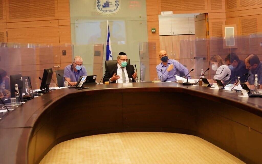 דיון של ועדת החוקה, חוק ומשפט של הכנסת, 1 באוקטובר 2020 (צילום: דוברות הכנסת)