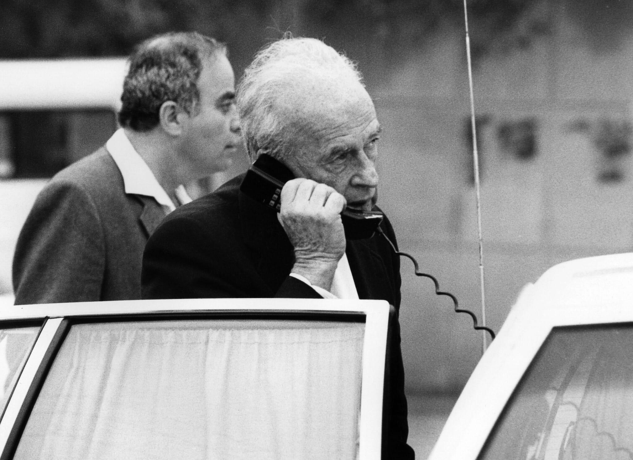 יצחק רבין, יולי 1993 (צילום: משה שי/פלאש90)