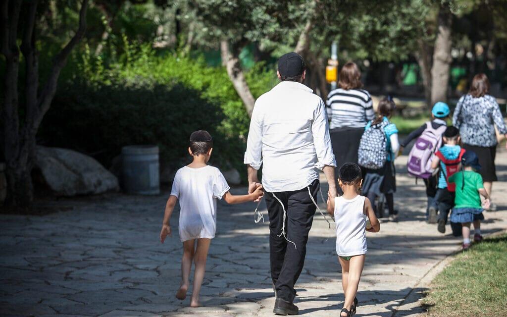 חרדים בירושלים (צילום: נועם מושקוביץ/פלאש90)