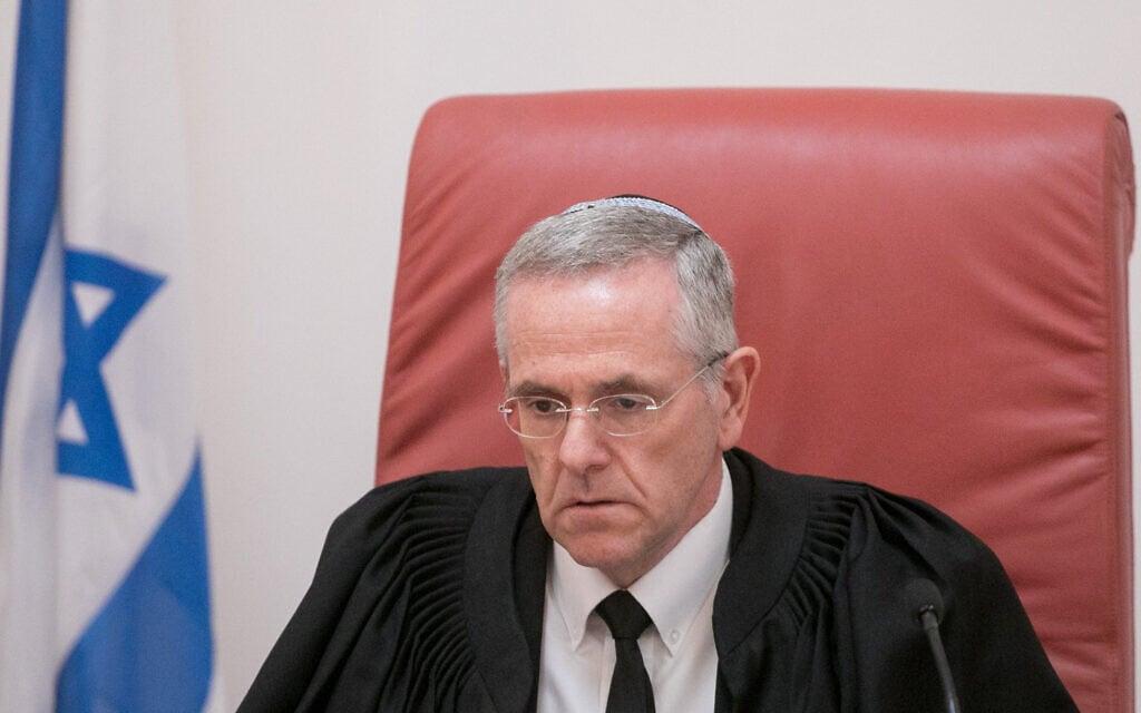 שופט בית המשפט העליון דוד מינץ (צילום: מרים אלסטר/פלאש90)