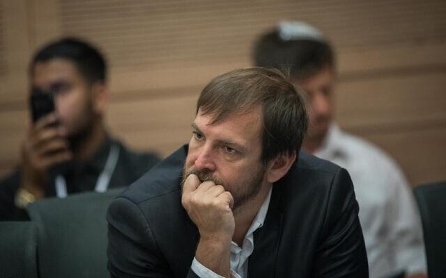 אסף זמיר בדיון בכנסת בוועדת הכנסת (צילום: Yonatan Sindel/Flash90)