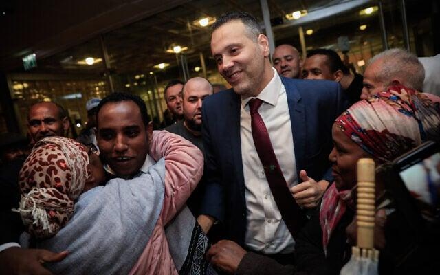 מיקי זוהר וגדי יברקן בכנס הליכוד בירושלים, אחרי שיברקן הצטרף למפלגה. 21 בינואר 2020 (צילום: אוליבייה פיטוסי/פלאש90)