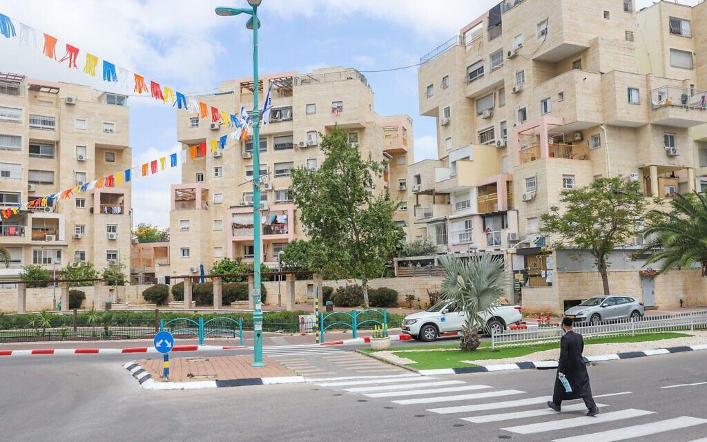 מבט על אלעד. אפריל 2020 (צילום: Yossi Aloni/Flash90)