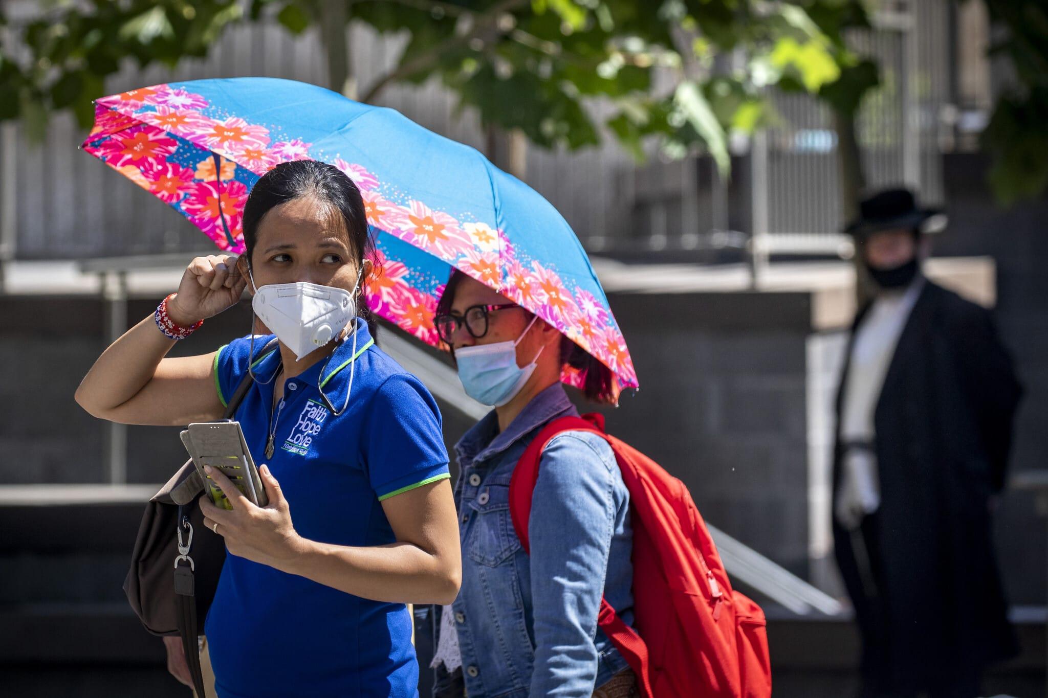 יום חם בירושלים, יולי 2020 (צילום: Olivier Fitoussi/Flash90)