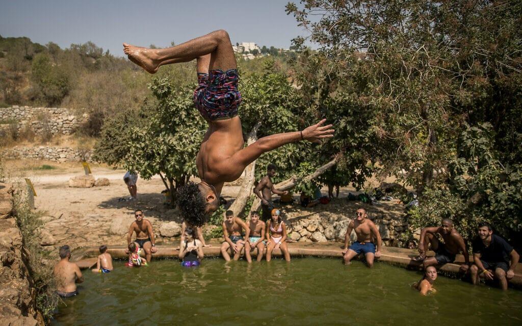 .מעיין ליד ירושלים, אוגוסט 2020 (צילום: Yonatan Sindel/Flash90)