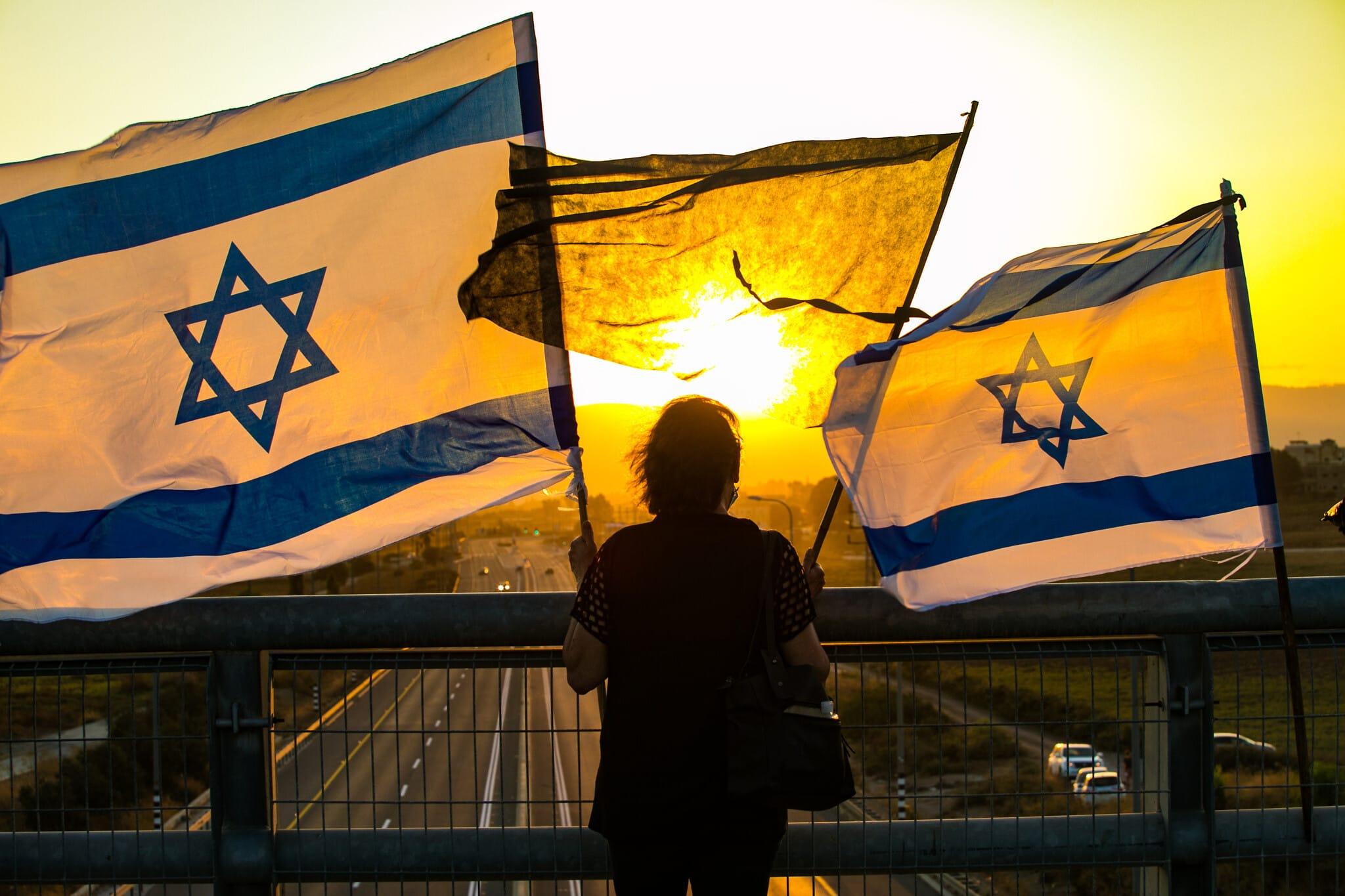אילוסטרציה, הפגנה נגד נתניהו בעמק יזרעאל, ספטמבר 2020 (צילום: Anat Hermony/Flash90)