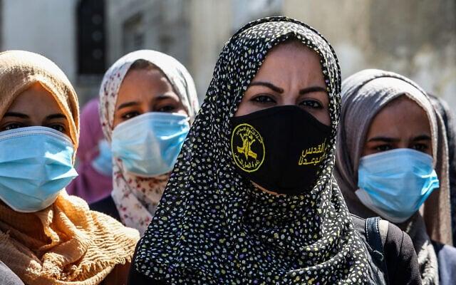 אילוסטרציה, עצרת של הג'יהאד האסלאמי ברצועת עזה, אוקטובר 2020 (צילום: Abed Rahim Khatib/Flash90)
