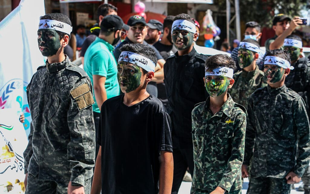 אילוסטרציה, עצרת לציון 33 שנה להקמת הג'יהאד האסלאמי ברצועת עזה, 6 באוקטובר 2020 (צילום: עבד רחים חטיב / פלאש 90)