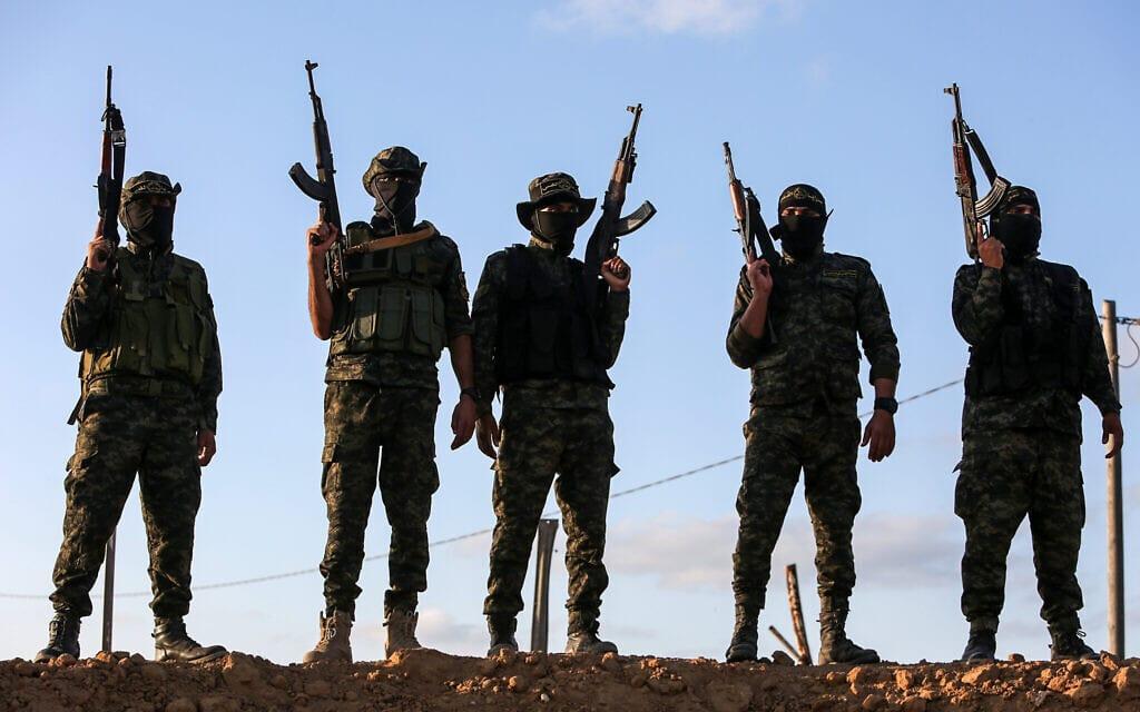 אנשי הג'יהאד האסלאמי ברצועת עזה, אוקטובר 2020 (צילום: Abed Rahim Khatib/Flash90)